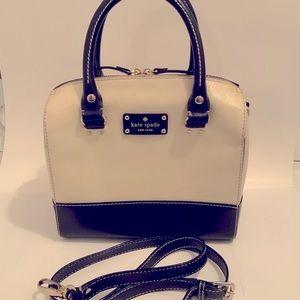 Kate Spade Crossbody Handbag White With Black